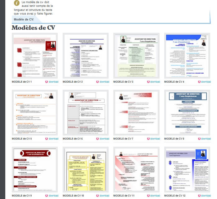 exemples    mod u00e8les de cv gratuit word    photoshop