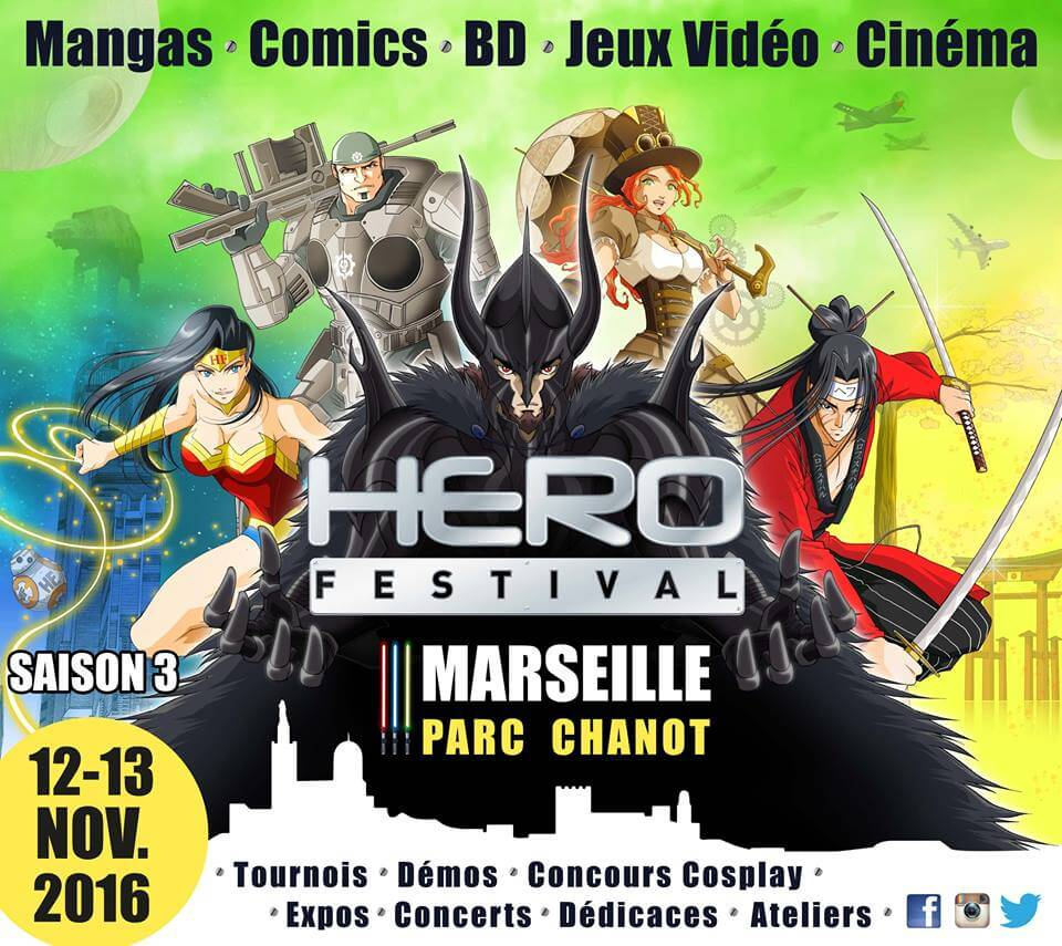 Herofestival 12 et 13 novembre 2016 au parc chanot for Salon marseille parc chanot