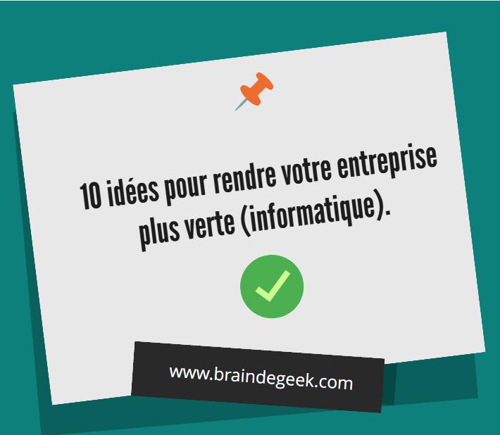 10 id es pour rendre votre entreprise plus verte for Idee entreprise de service