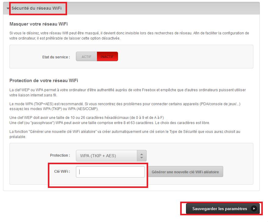 freebox comment changer le mot de passe du wi-fi