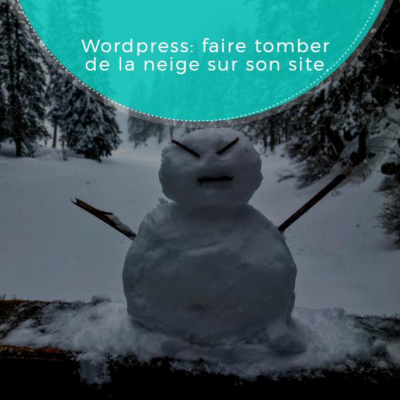 Wordpress faire tomber de la neige sur son site.