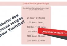 une acheter dislikes youtubes