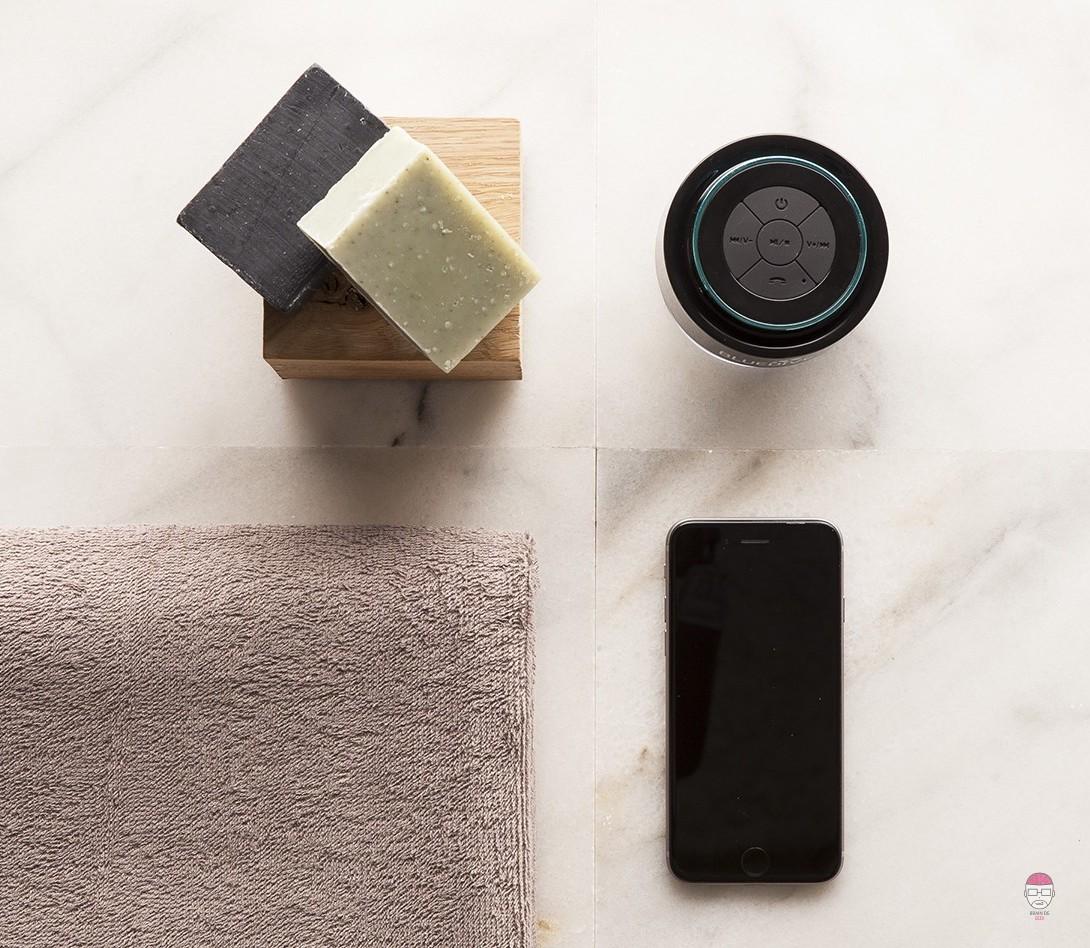 Pommeau de douche enceinte cool meilleure enceinte - Enceinte bluetooth salle de bain ...