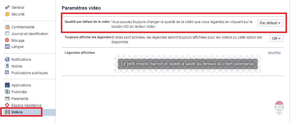 Forcer la lecture des vidéos en HD sur Facebook.