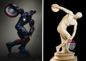 Figurine marvel discobole