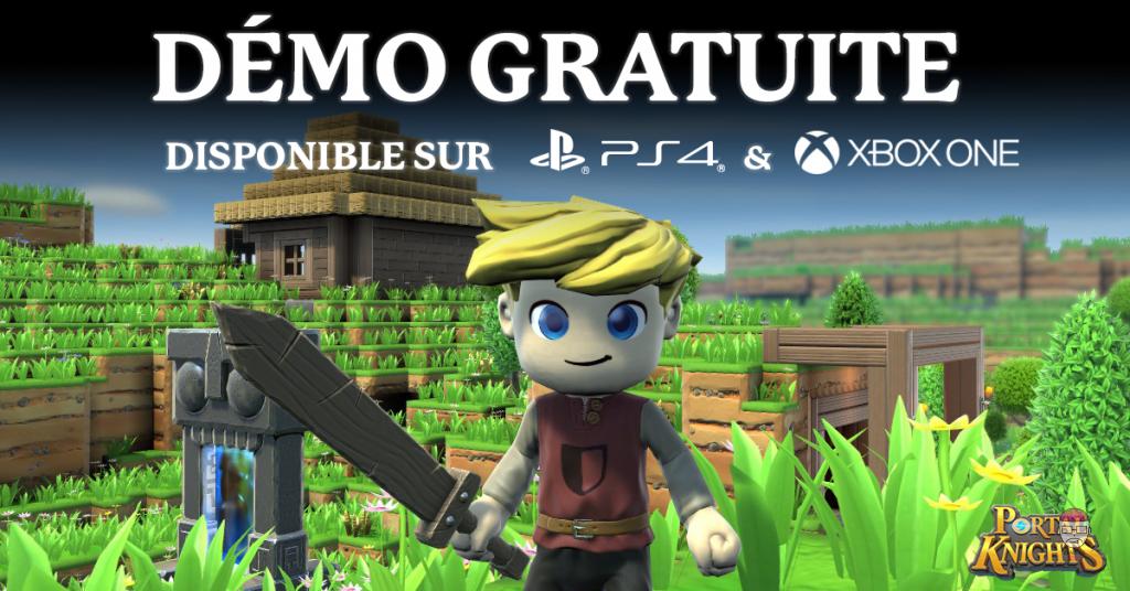 Démo-Disponible-1024x536 Portal Knights sort une version d'essai gratuite sur PS4 et Xbox One