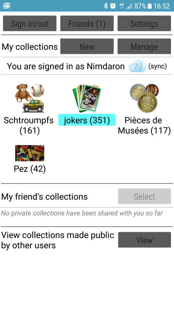 MyCollections, une application pour vos collections 1