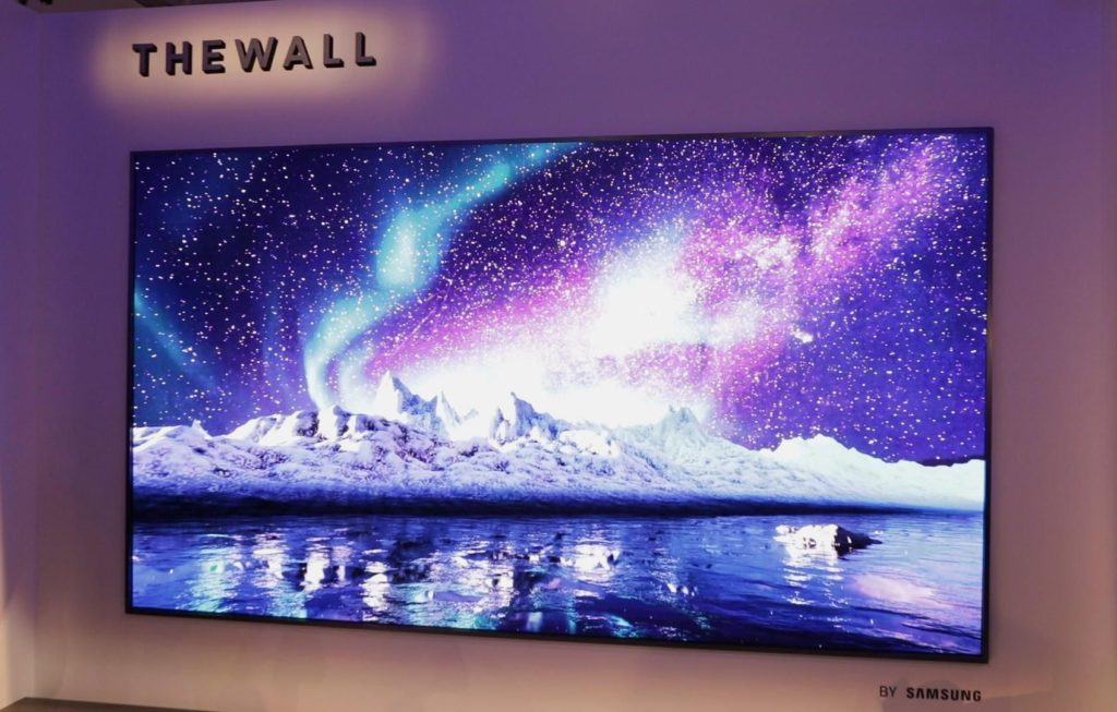 CES 2018 - samsung the wall
