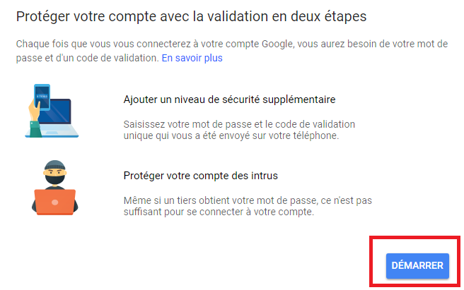 gmail double authentification