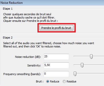 reduire le bruit noise reduction