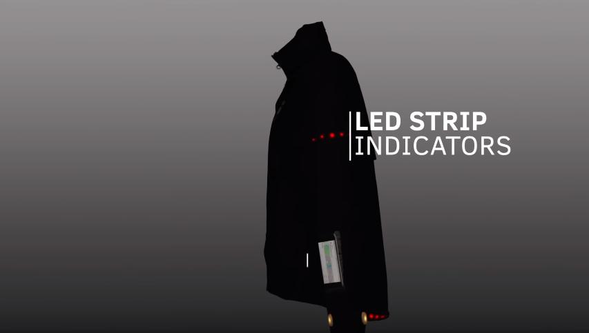 led indicator Smart Jacket