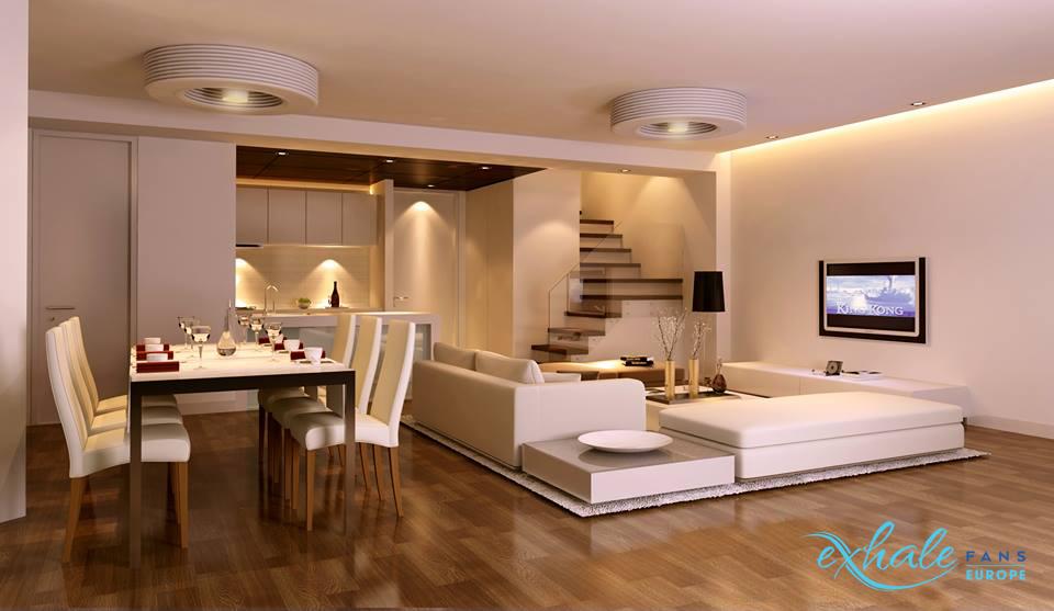 EXHALE: un ventilateur de plafond sans pales connecté 1