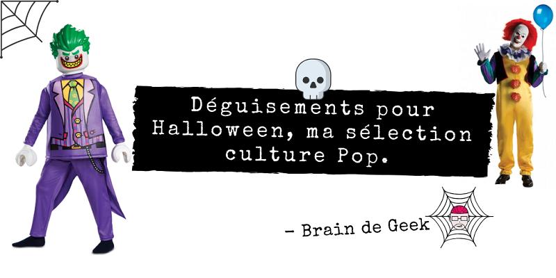 Déguisements pour Halloween, ma sélection culture Pop.
