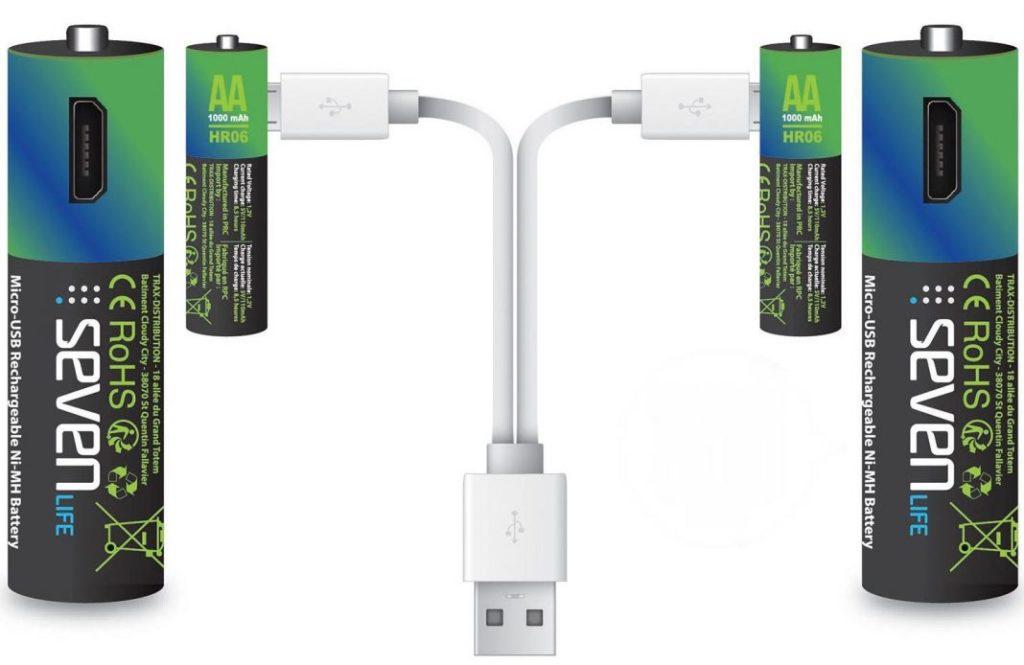 Seven life, des piles qui se rechargent par USB 1