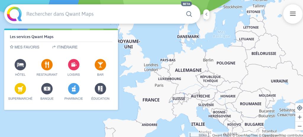 Testons ensemble Qwant Maps, la version beta. 1