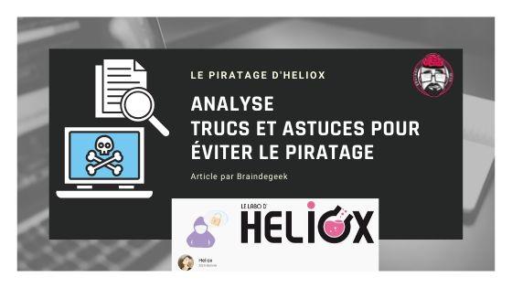 Heliox, étude de cas du piratage : conseils, trucs et astuces 1