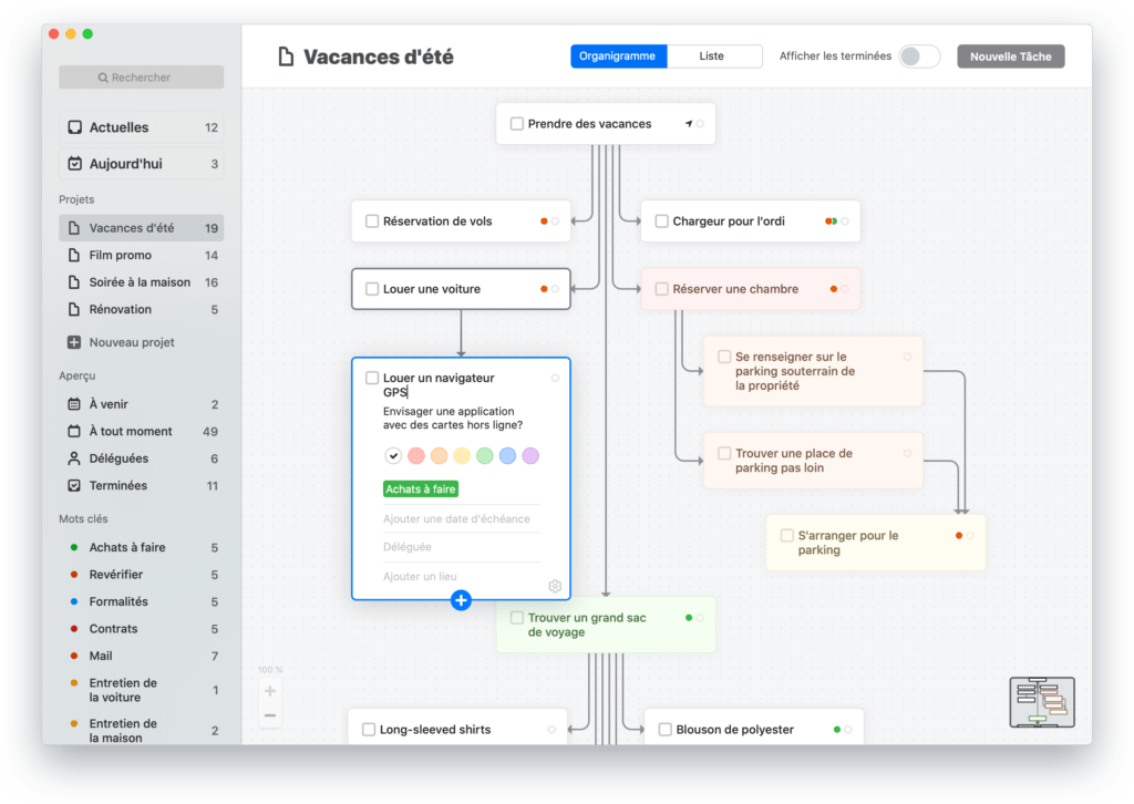 Exemple d'un projet sur Taskheat